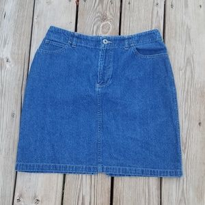 Vintage 90s Liz Claiborne Denim High Waist Skirt